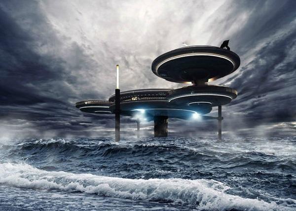 diaforetiko.gr : water discus 04 800x706 Ένα μισοβυθισμένο ξενοδοχείο που μοιάζει με διαστημόπλοιο!
