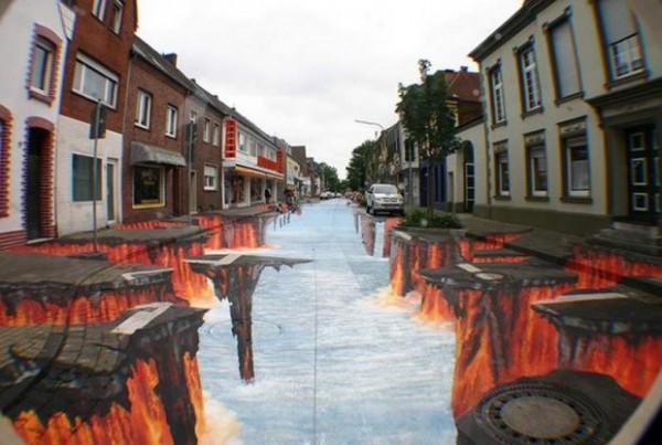 diaforetiko.gr : 3D street art by Edgar Muller Lava Burst 620x417 600x403 Δείτε εκπληκτικές 3D ζωγραφιές στο δρόμο...