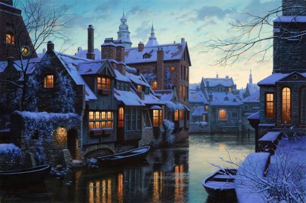 diaforetiko.gr : 429963  eugeny lushpin twilight in brugge p 600x398 Δείτε μέρη του κόσμου που είναι ωραιότερα το χειμώνα!