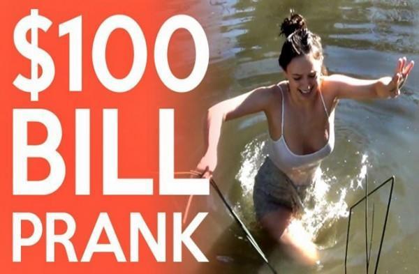 diaforetiko.gr : 100 bill prank 640x360 600x393 Για να κερδίσετε 100 δολάρια μέχρι που θα μπορούσατε να φτάσετε;; (βίντεο)