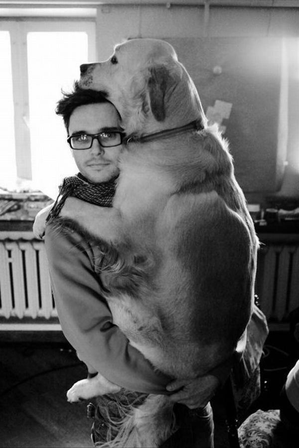 diaforetiko.gr : cute dogs hugging humans 1011 600x900 26 αξιολάτρευτα σκυλιά στην αγκαλιά του αφεντικού τους! Τρυφερές στιγμές…