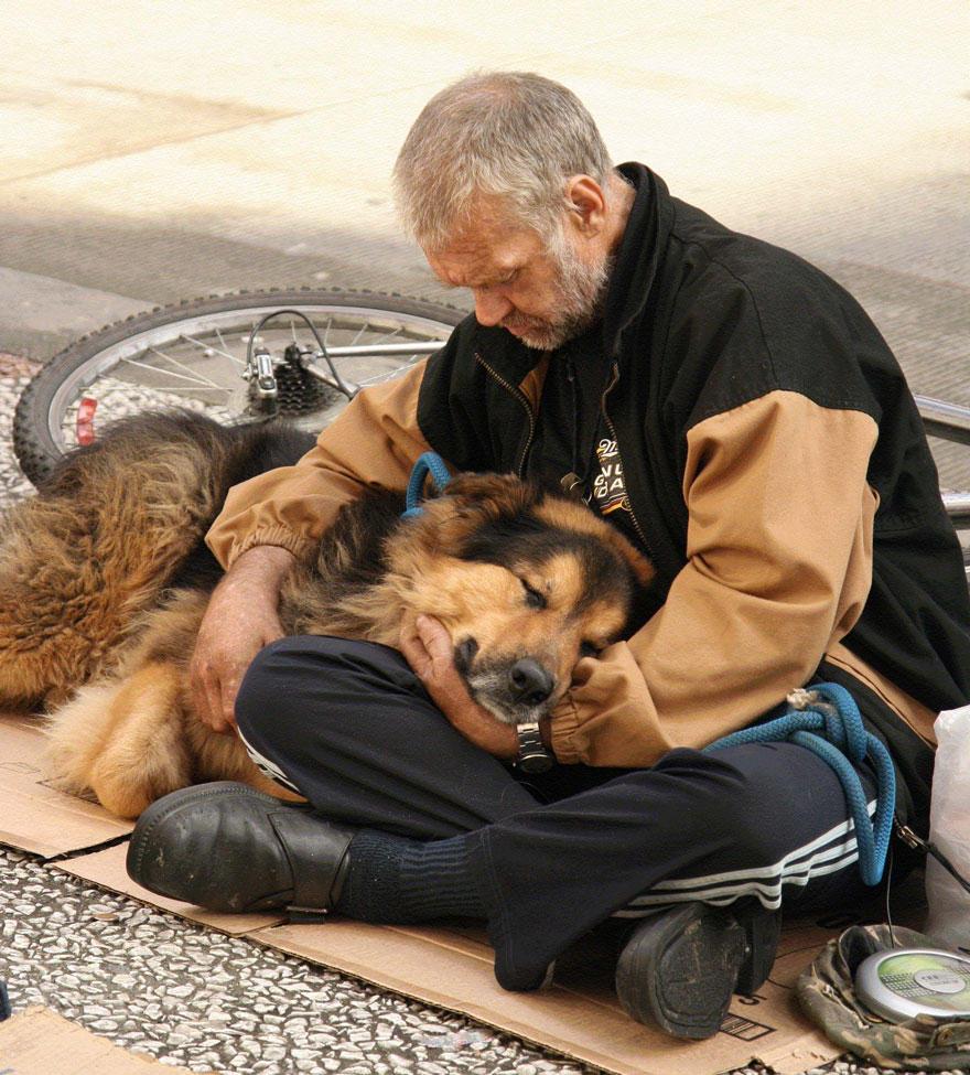 diaforetiko.gr : homeless dogs and owners 32 Φωτογραφίες που αποδεικνύουν πως τα σκυλιά σε αγαπούν όσο φτωχός κι αν είσαι