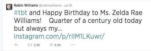 tweet 1407819452088 1407819452088 To συγκινητικό τελευταίο tweet του Robin Williams
