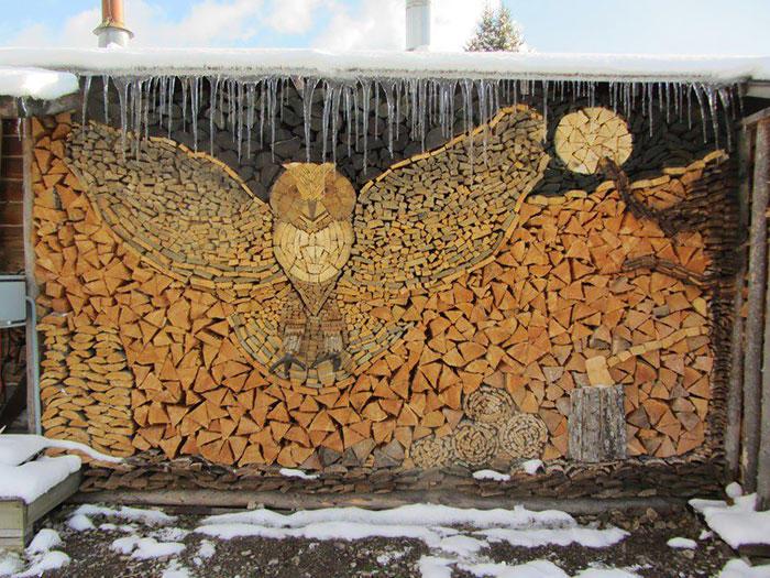 diaforetiko.gr : wood pile art 11 Σωροί από καυσόξυλα μετατρέπονται σε.. έργα τέχνης! Όταν η δημιουργικότητα παντρεύεται με την έμπνευση…