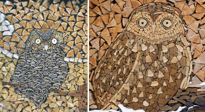 diaforetiko.gr : wood pile art 4 Σωροί από καυσόξυλα μετατρέπονται σε.. έργα τέχνης! Όταν η δημιουργικότητα παντρεύεται με την έμπνευση…