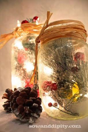 diaforetiko.gr : diy xristougeniatikes idees me adeia vaza17 35 Χριστουγεννιάτικες κατασκευές απο άδεια γυάλινα βάζα!