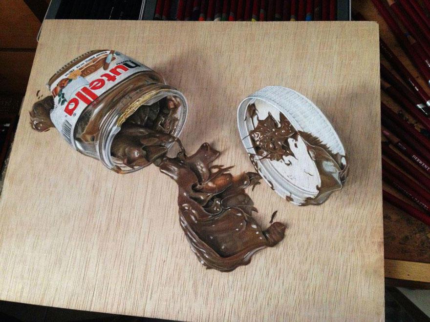 diaforetiko.gr : photorealistic drawing wood ivan hoo 2 Νομίζετε πως βλέπετε τη φωτογραφία ενός σκύλου;;; Για προσέξτε πιο καλά!