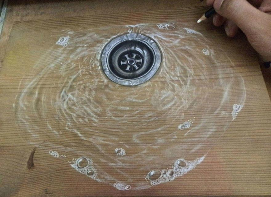 diaforetiko.gr : photorealistic drawing wood ivan hoo 4 Νομίζετε πως βλέπετε τη φωτογραφία ενός σκύλου;;; Για προσέξτε πιο καλά!