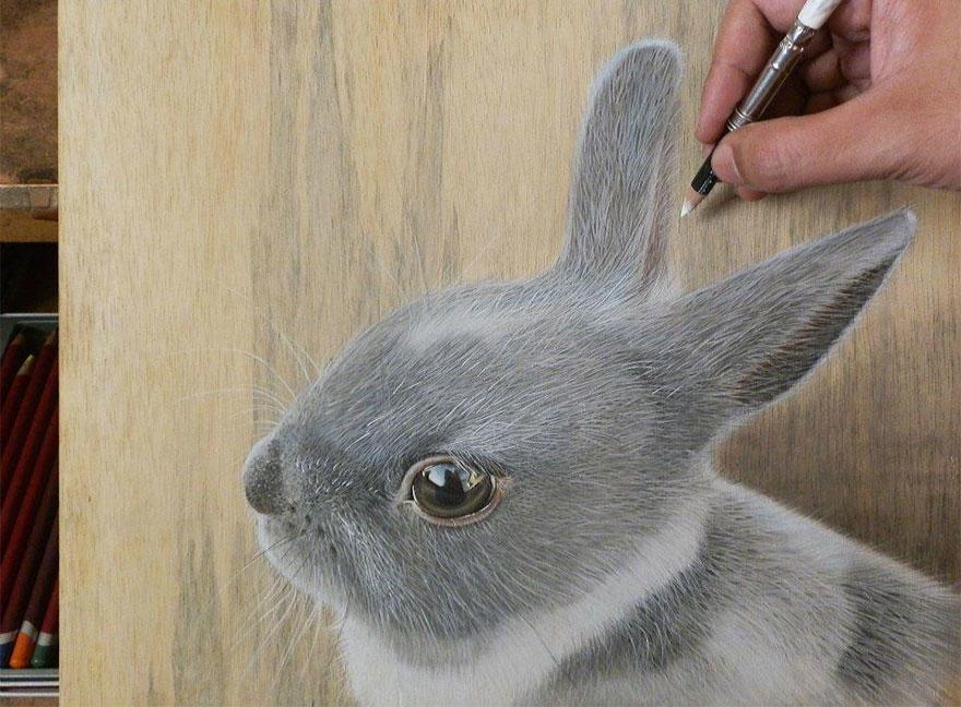diaforetiko.gr : photorealistic drawing wood ivan hoo 9 Νομίζετε πως βλέπετε τη φωτογραφία ενός σκύλου;;; Για προσέξτε πιο καλά!