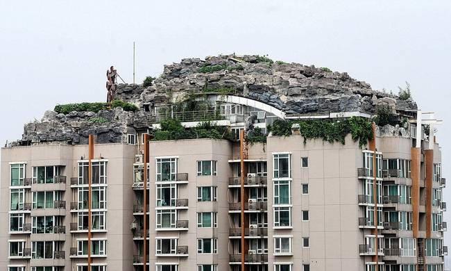 diaforetiko.gr : zen 1 Έφτιαξε... βουνό στο ρετιρέ της πολυκατοικίας του! Ένα ασυνήθιστο ησυχαστήριο στον 26ο όροφο !!!