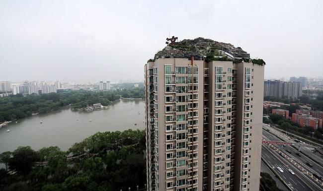 diaforetiko.gr : zen 10 Έφτιαξε... βουνό στο ρετιρέ της πολυκατοικίας του! Ένα ασυνήθιστο ησυχαστήριο στον 26ο όροφο !!!