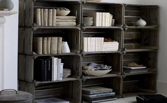 diaforetiko.gr : Crate Bookshelf 32 Ιδέες για Απίθανες και Μοντέρνες Κατασκευές από Παλιά Καφάσια!