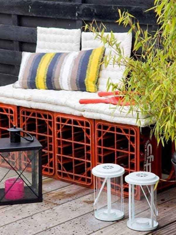 diaforetiko.gr : DIY Benches for Garden 12 32 Ιδέες για Απίθανες και Μοντέρνες Κατασκευές από Παλιά Καφάσια!