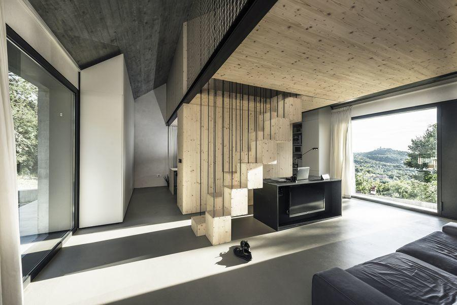 diaforetiko.gr : compact karst house dekleva gregori arhitekti living Εκπληκτικό! Εξοχικό σπίτι συνδυάζει άψογα την παραδοσιακή με τη μοντέρνα αρχιτεκτονική!!