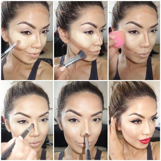 diaforetiko.gr : contour and makeup Η τέχνη του μακιγιάζ !Δείτε βήμα βήμα πως μπορείτε να μεταμορφωθειτε μόνες σας!!!