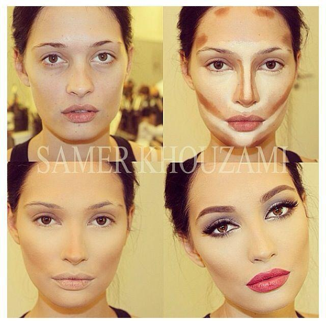 diaforetiko.gr : face contouring Η τέχνη του μακιγιάζ !Δείτε βήμα βήμα πως μπορείτε να μεταμορφωθειτε μόνες σας!!!