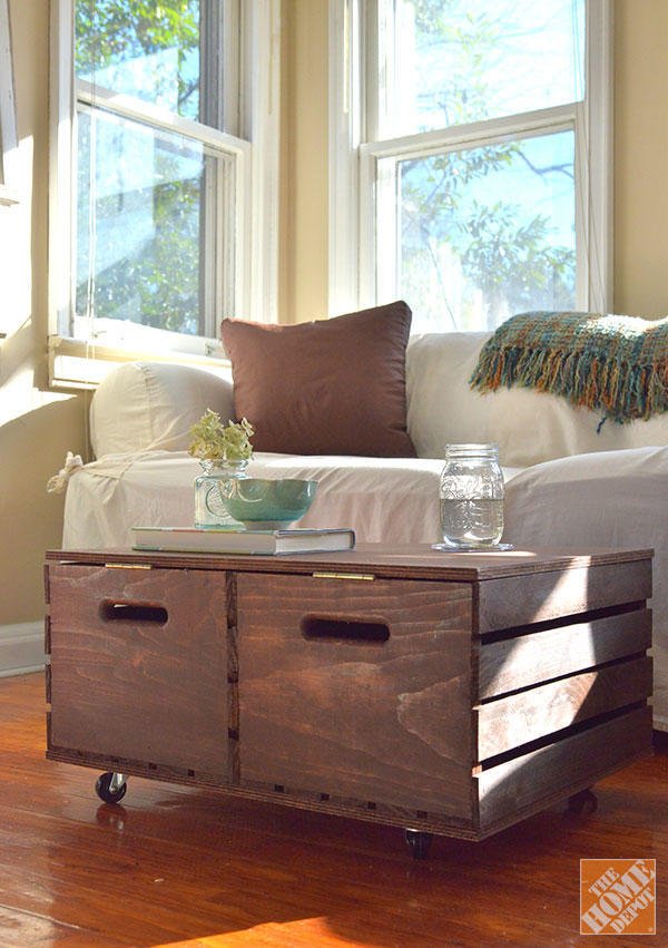 diaforetiko.gr : furniture rustic diy storage ottoman from old wood with wheels and drawers design ideas for living room decorations cheap and easy diy home projects storage ideas 32 Ιδέες για Απίθανες και Μοντέρνες Κατασκευές από Παλιά Καφάσια!