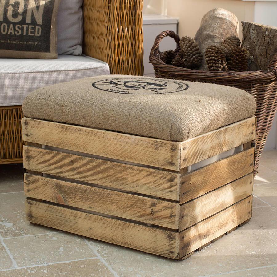 diaforetiko.gr : original wooden crate storage box seat lined 32 Ιδέες για Απίθανες και Μοντέρνες Κατασκευές από Παλιά Καφάσια!