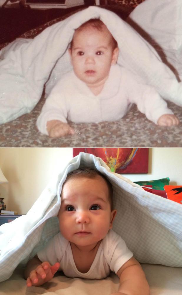 diaforetiko.gr : slide 393894 4815718 free Αμφιβάλετε πως το μήλο πέφτει κάτω από την μηλιά; Δείτε 40 φωτογραφίες γονιών που μοιάζουν σαν δυο σταγόνες νερό με τα παιδιά τους !!!