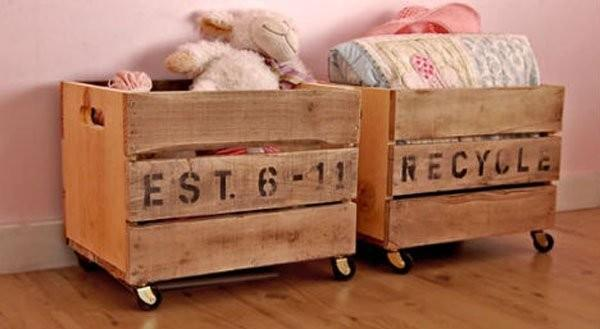 diaforetiko.gr : vintage crate carts 32 Ιδέες για Απίθανες και Μοντέρνες Κατασκευές από Παλιά Καφάσια!