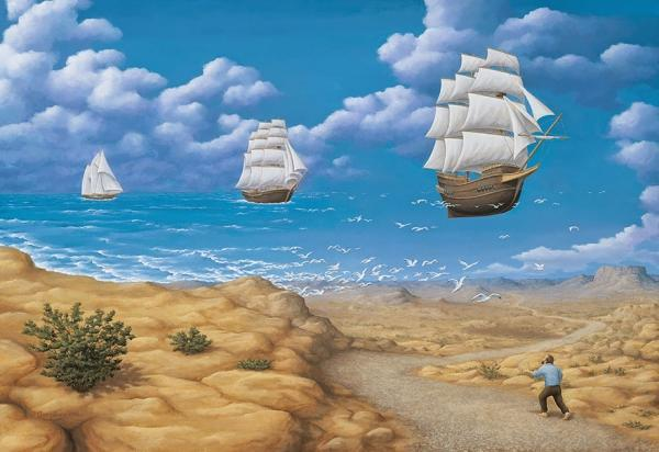 diaforetiko.gr : magic realism paintings rob gonsalves 15  880 600x412 33 Πίνακες Ζωγραφικής με οπτικές ψευδαισθήσεις που παίζουν με το μυαλό σου.