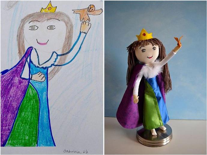 diaforetiko.gr : upl5582c47e8e5b4 Τους στέλνετε τη ζωγραφιά του παιδιού σας και σας στέλνουν ένα ολόιδιο κουκλάκι!