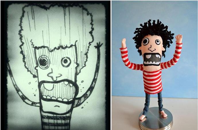 diaforetiko.gr : upl5582c48b8942c Τους στέλνετε τη ζωγραφιά του παιδιού σας και σας στέλνουν ένα ολόιδιο κουκλάκι!