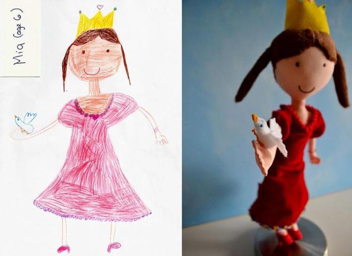 diaforetiko.gr : upl5582c4ac81cea Τους στέλνετε τη ζωγραφιά του παιδιού σας και σας στέλνουν ένα ολόιδιο κουκλάκι!