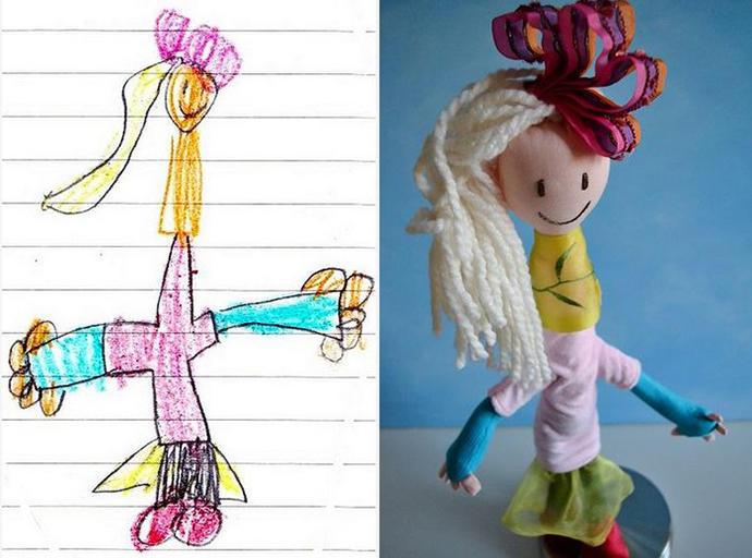 diaforetiko.gr : upl5582c4c24b8ea Τους στέλνετε τη ζωγραφιά του παιδιού σας και σας στέλνουν ένα ολόιδιο κουκλάκι!