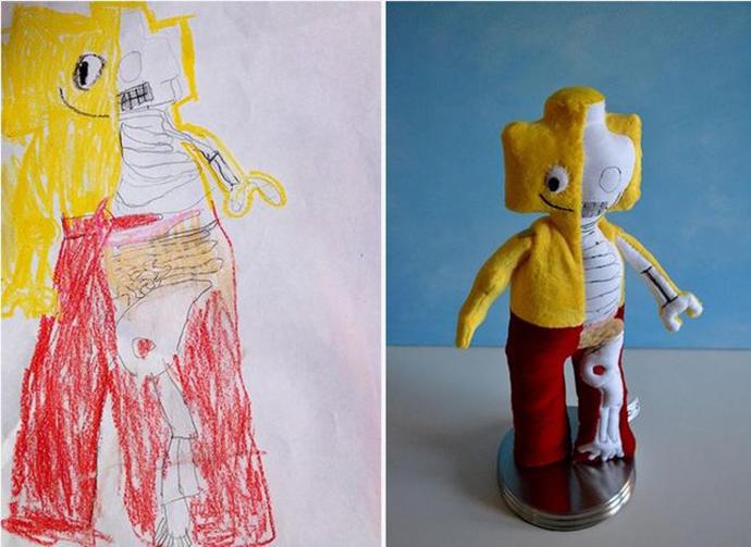 diaforetiko.gr : upl5582c4cc98f5b Τους στέλνετε τη ζωγραφιά του παιδιού σας και σας στέλνουν ένα ολόιδιο κουκλάκι!