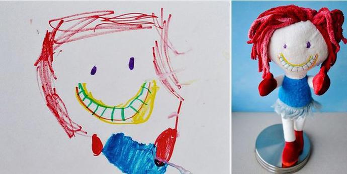 diaforetiko.gr : upl5582c4d747423 Τους στέλνετε τη ζωγραφιά του παιδιού σας και σας στέλνουν ένα ολόιδιο κουκλάκι!