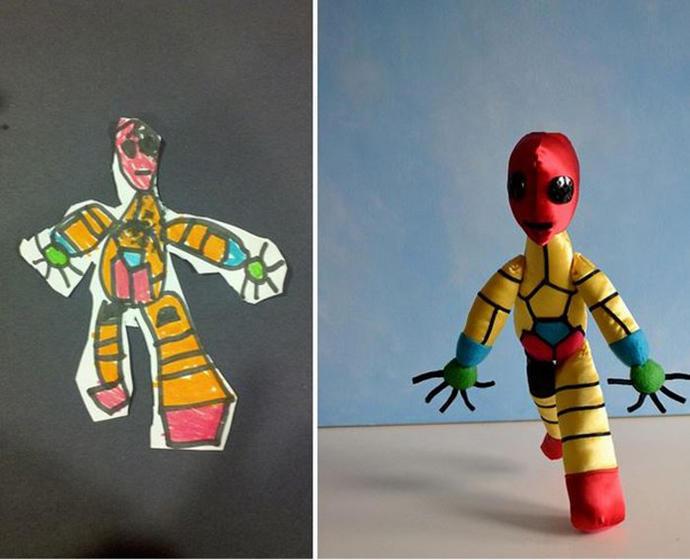 diaforetiko.gr : upl5582c505c65d5 Τους στέλνετε τη ζωγραφιά του παιδιού σας και σας στέλνουν ένα ολόιδιο κουκλάκι!