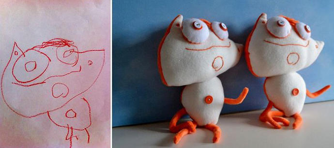 diaforetiko.gr : upl5582c540968ac Τους στέλνετε τη ζωγραφιά του παιδιού σας και σας στέλνουν ένα ολόιδιο κουκλάκι!