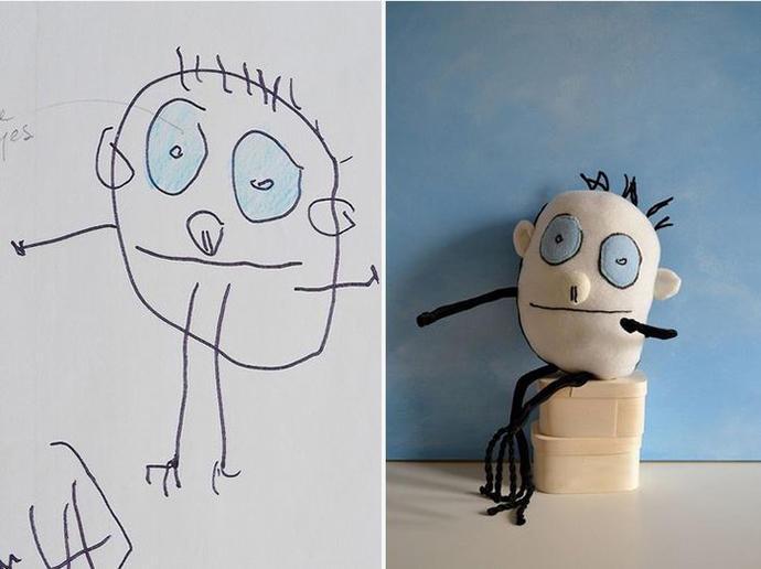 diaforetiko.gr : upl5582c54be2663 Τους στέλνετε τη ζωγραφιά του παιδιού σας και σας στέλνουν ένα ολόιδιο κουκλάκι!