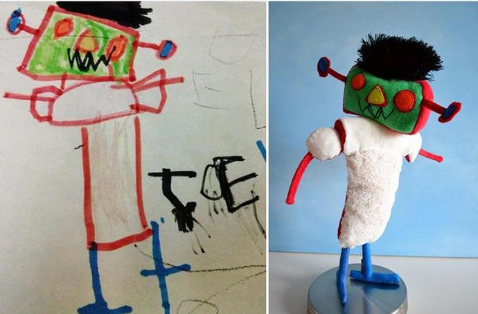 diaforetiko.gr : upl5582c55a1d3d8 Τους στέλνετε τη ζωγραφιά του παιδιού σας και σας στέλνουν ένα ολόιδιο κουκλάκι!