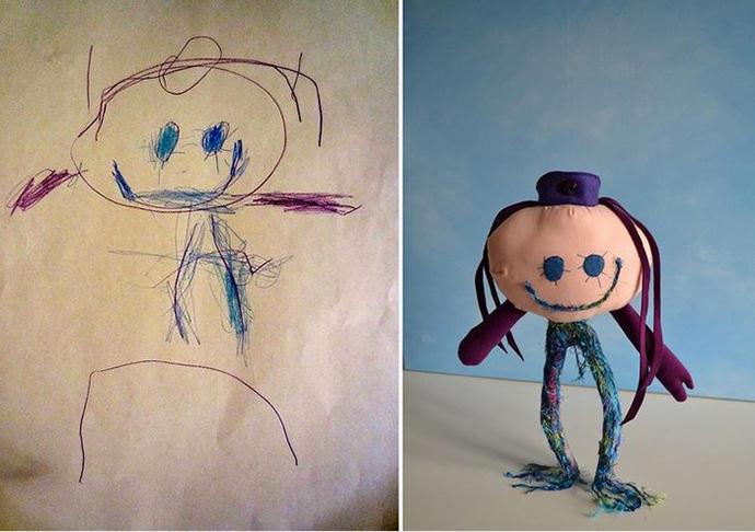 diaforetiko.gr : upl5582c563d77a6 Τους στέλνετε τη ζωγραφιά του παιδιού σας και σας στέλνουν ένα ολόιδιο κουκλάκι!