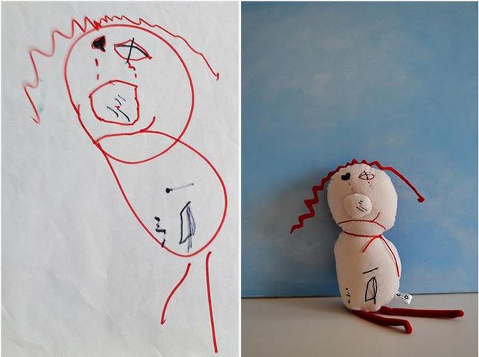 diaforetiko.gr : upl5582c5bd73758 Τους στέλνετε τη ζωγραφιά του παιδιού σας και σας στέλνουν ένα ολόιδιο κουκλάκι!