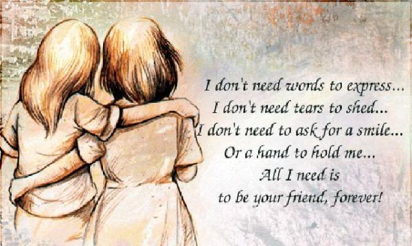 be108599063253ea2a28e4eda19283a2 600x359 Η φιλία είναι μια ψυχή που κατοικεί σε δυο σώματα
