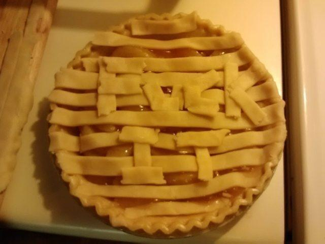 Message in a pie.