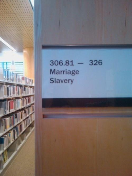 Humor at the library.