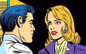 Man And Woman Talking --- Image by © Images.com/Corbis