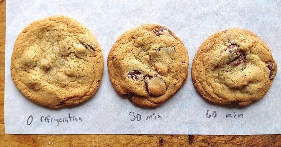 Chilling your cookie dough for as little as 30 minutes can bring out the color and flavor in your batches.