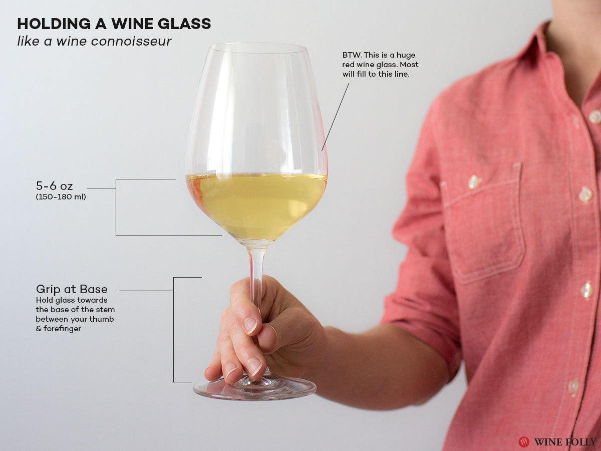 You can at least look like a connoisseur by correcting the way you hold a wine glass.