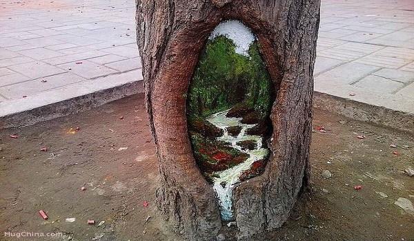 Ζωγράφος μετατρέπει τρύπες δέντρων σε εκπληκτικά έργα τέχνης