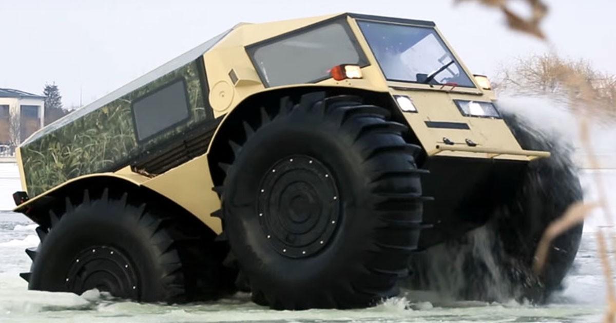 SHERP: Το ρώσικο κτηνώδες  όχημα που μπορεί να πάει απλά… παντού!