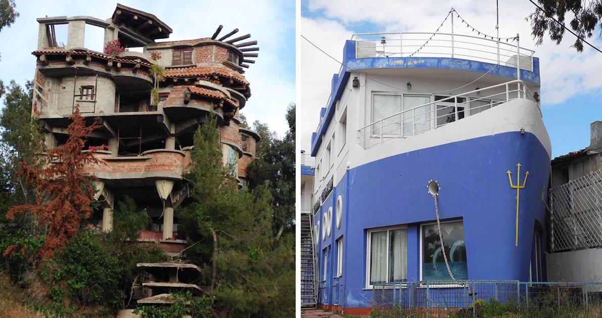 40 εξωφρενικές αυθαίρετες κατασκευές που βρίσκονται που αλλού; Στην Ελλάδα!