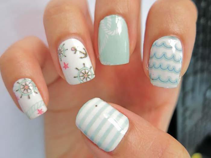 Παστέλ μανικιούρ: 48 υπέροχες ιδέες για υπέροχα καλοκαιρινά νύχια (5)