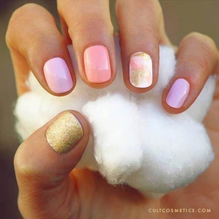 Παστέλ μανικιούρ: 48 υπέροχες ιδέες για υπέροχα καλοκαιρινά νύχια (8)