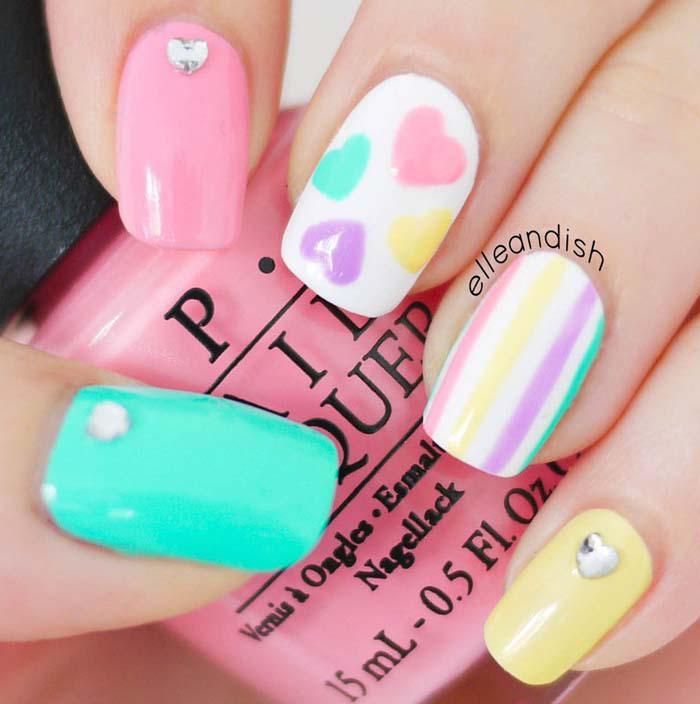 Παστέλ μανικιούρ: 48 υπέροχες ιδέες για υπέροχα καλοκαιρινά νύχια (19)