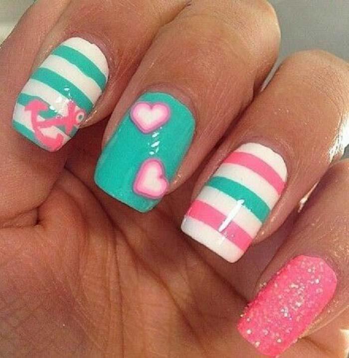 Παστέλ μανικιούρ: 48 υπέροχες ιδέες για υπέροχα καλοκαιρινά νύχια (21)